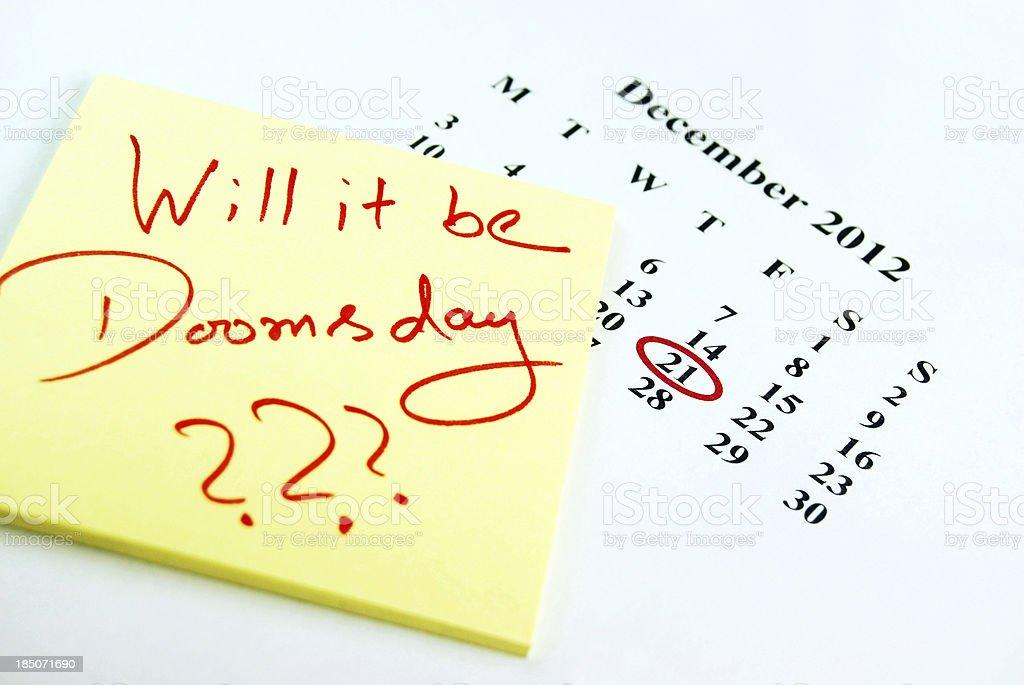 Doomsday??? stock photo