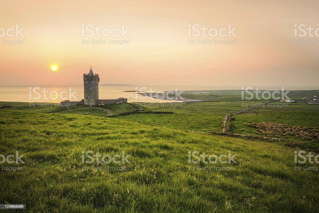 Doonagore castle near Doolin stock photo