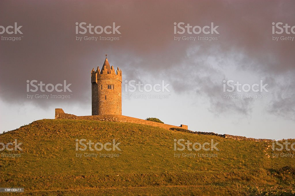 Doonagore Castle Sunset - Ireland royalty-free stock photo
