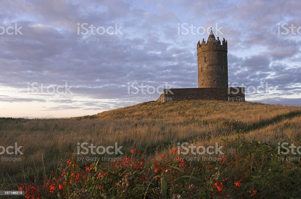 Doonagore Castle Sunset - Ireland royalty-free stock photo