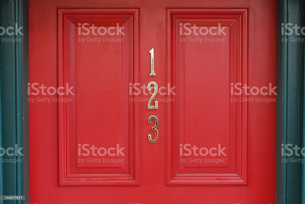 Door 123 royalty-free stock photo