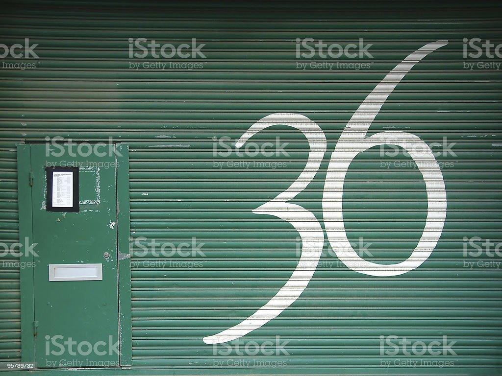Door 36 royalty-free stock photo