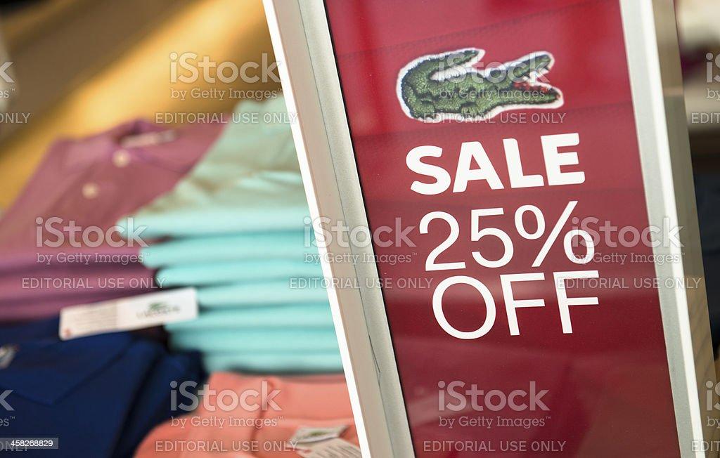 door advertising sale stock photo