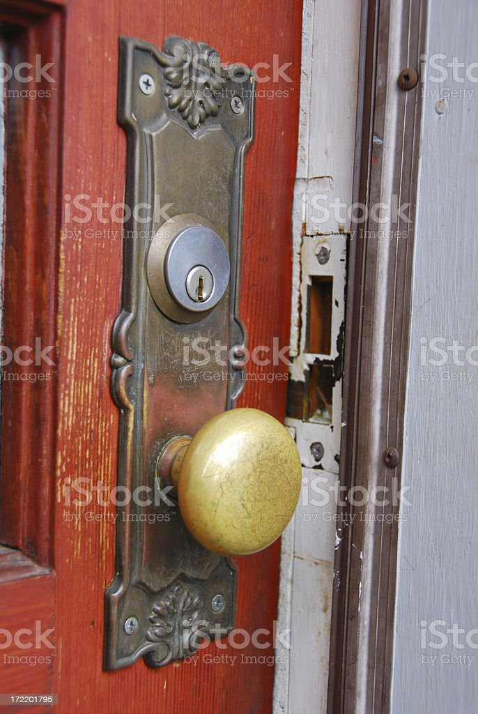 Door Ajar stock photo