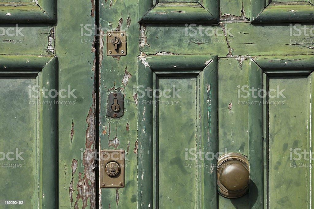 Door and locks royalty-free stock photo