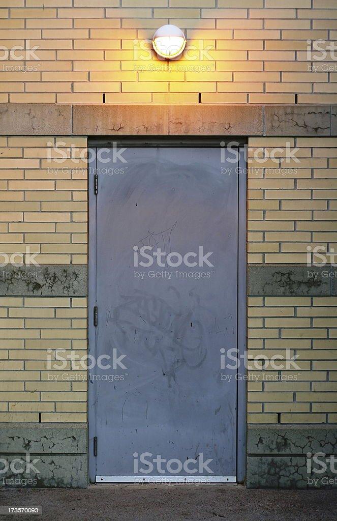 Door and Overhead Light royalty-free stock photo