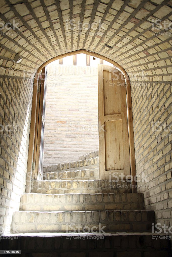 Door and steps royalty-free stock photo