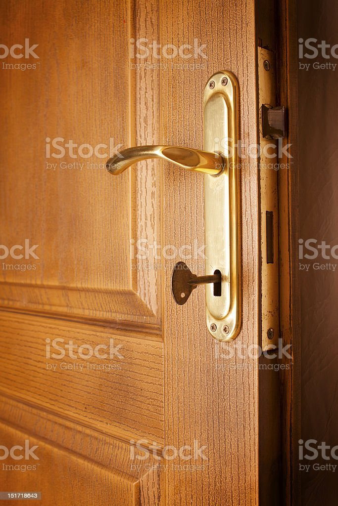 door and the key royalty-free stock photo