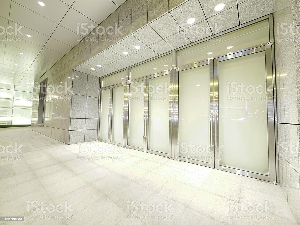 Door and walkway stock photo