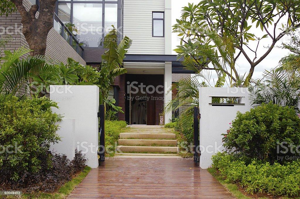 Door  and walkway royalty-free stock photo
