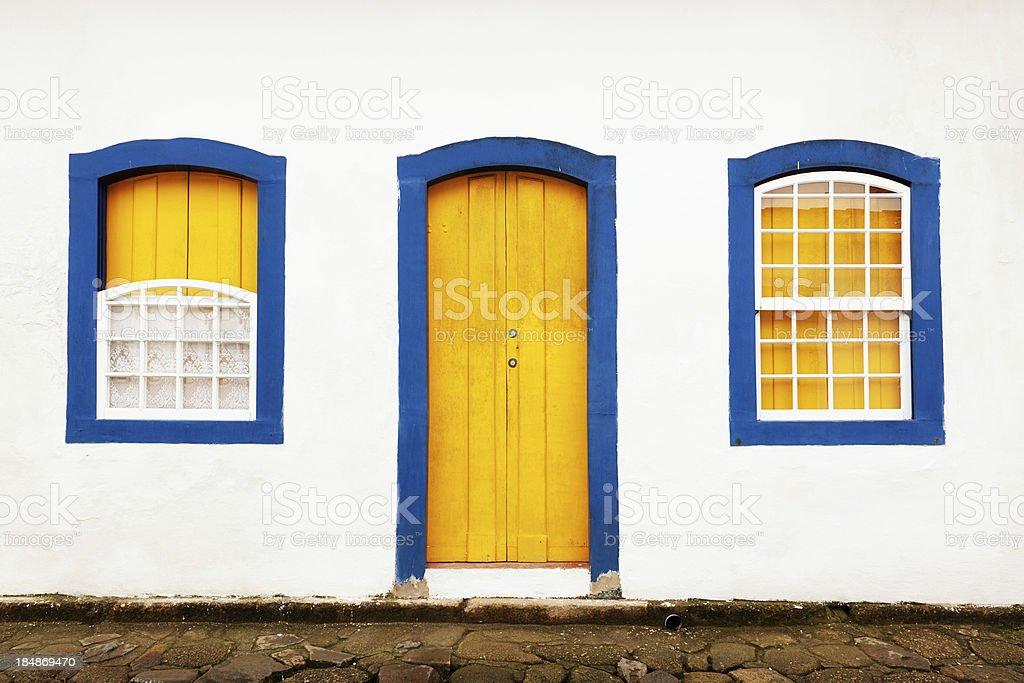 Door and windows stock photo