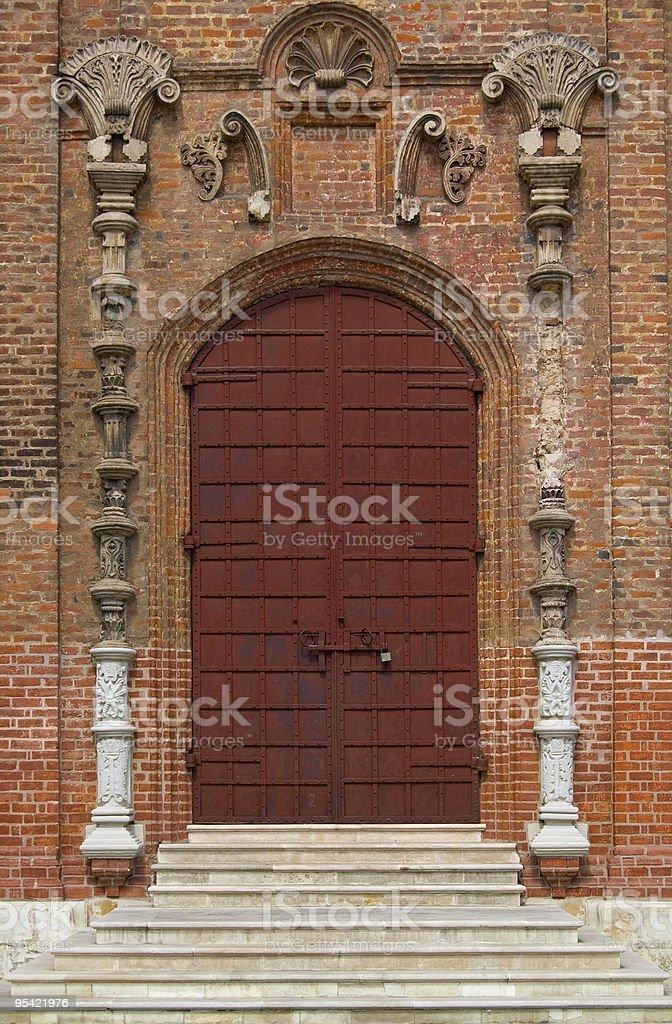 door at church royalty-free stock photo