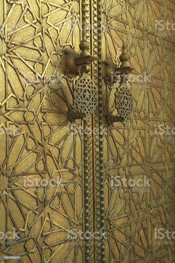 Door at Dar El Makhzen royalty-free stock photo