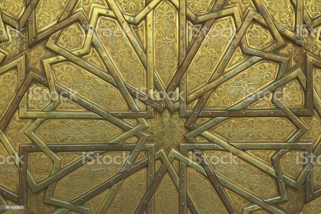 Door at Dar El Makhzen royalty-free stock photo