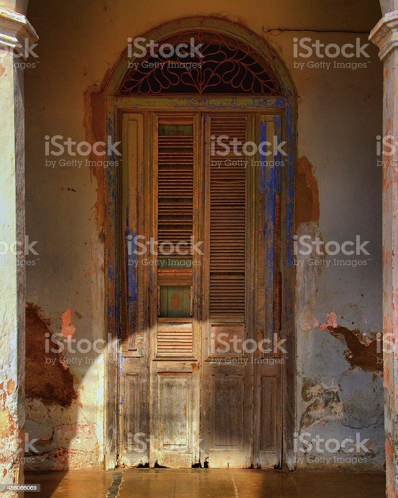 door at Remedios cuba royalty-free stock photo