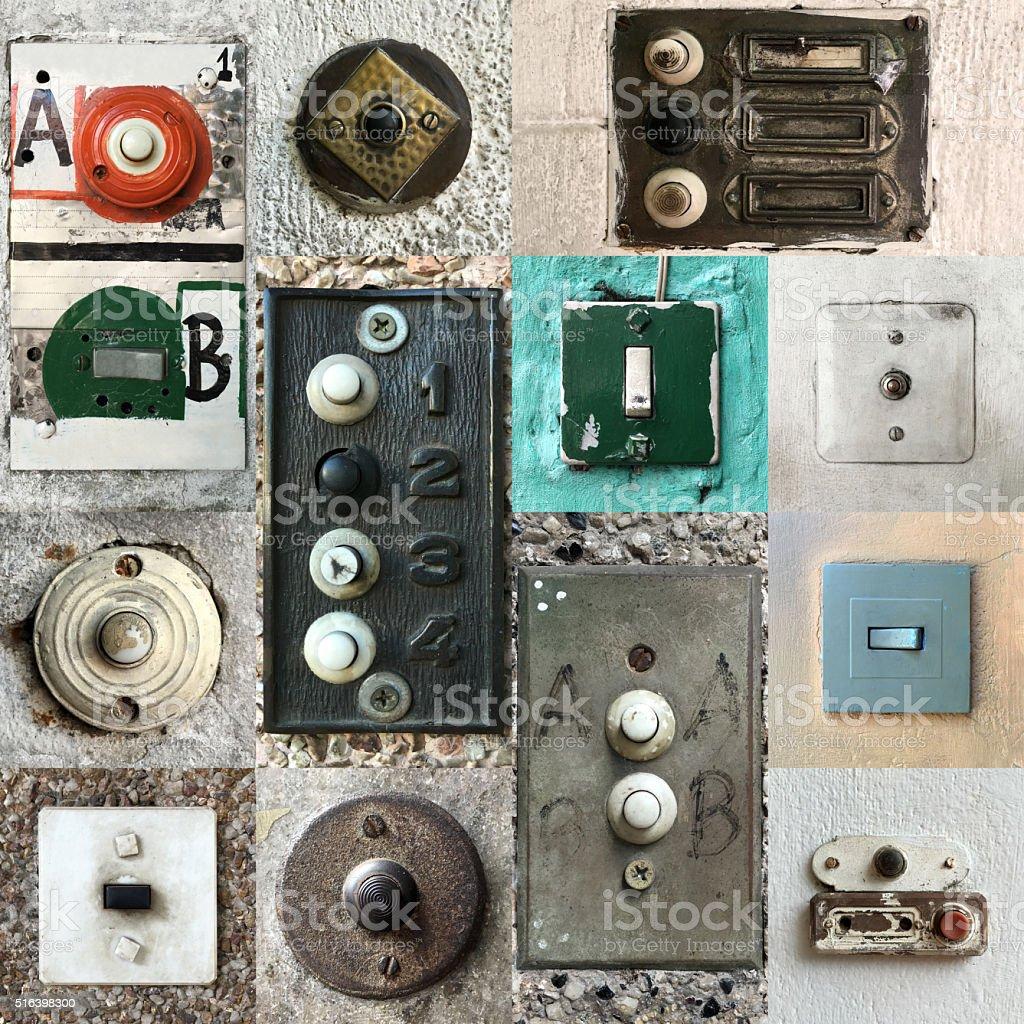 Door bells composition stock photo