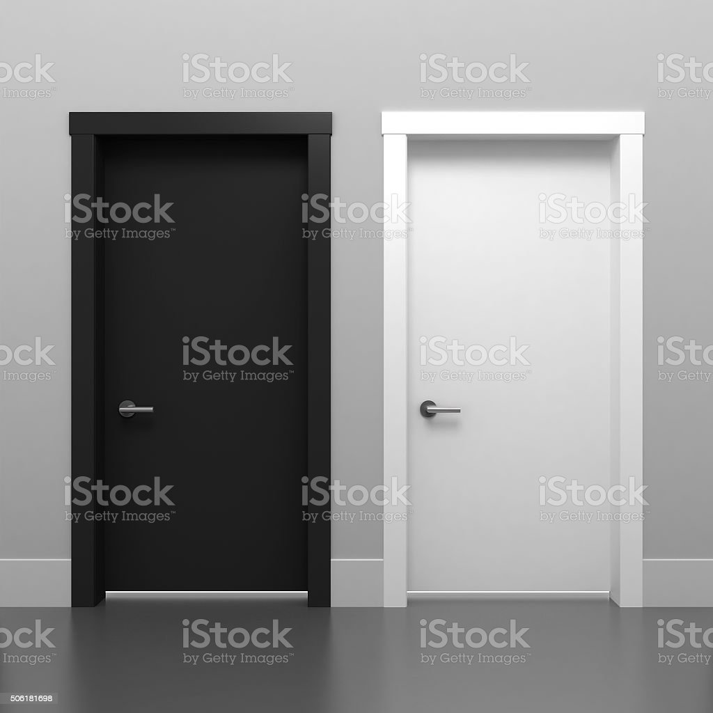 Door black and white stock photo