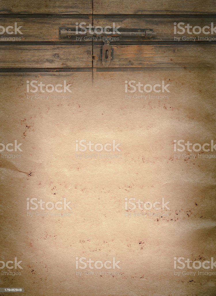 door catch old grunge paper texture royalty-free stock photo