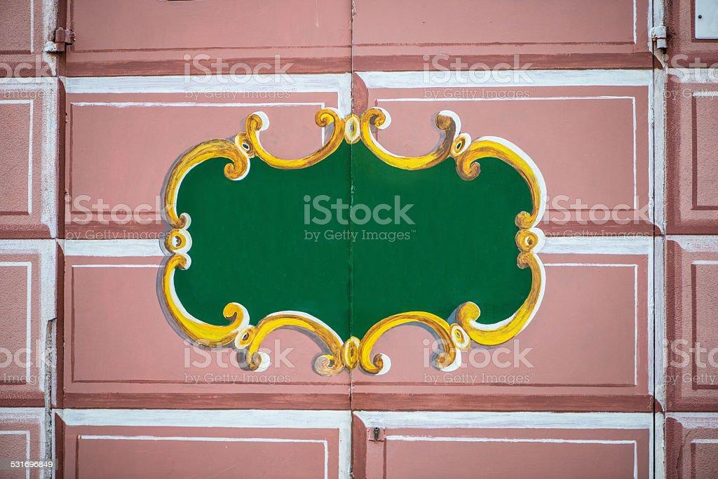 door decorated royalty-free stock photo