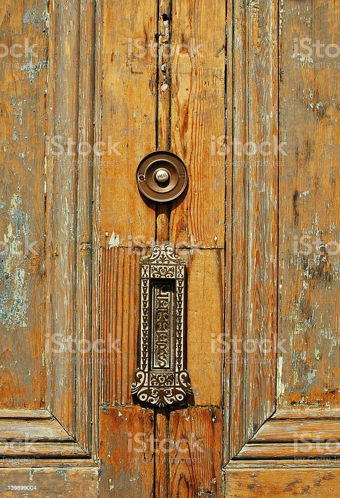 Door details royalty-free stock photo