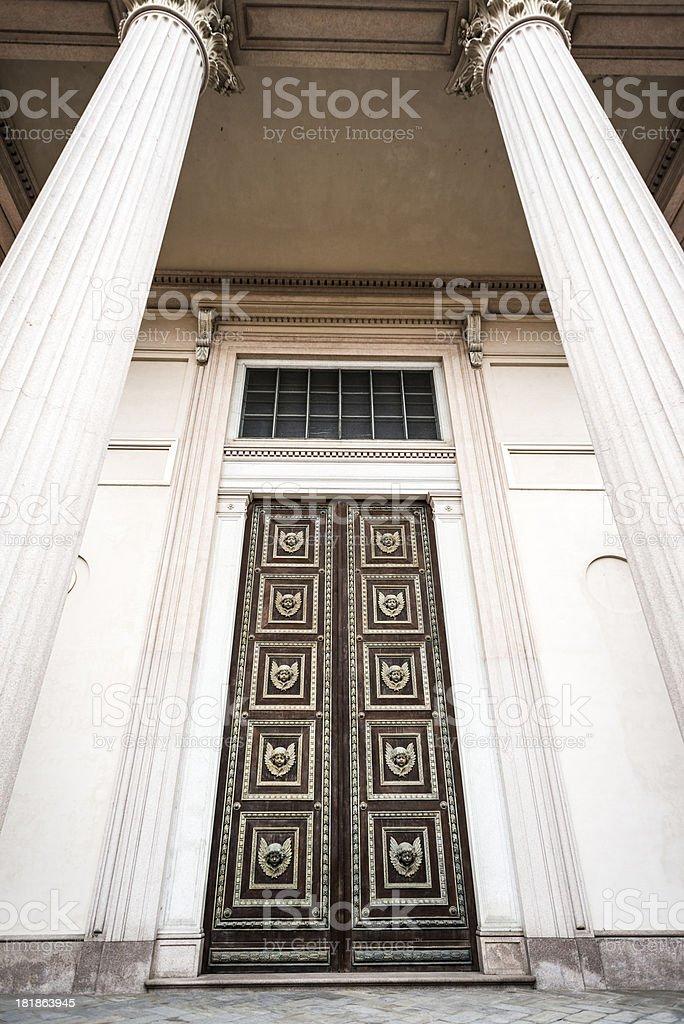 Door entrance in Novara, Italy royalty-free stock photo
