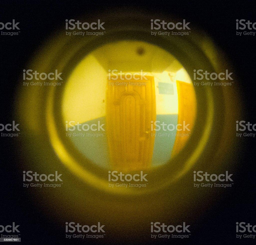 Door eye. stock photo