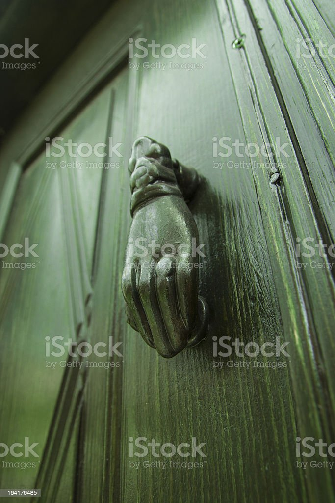 Door Hand Knocker royalty-free stock photo