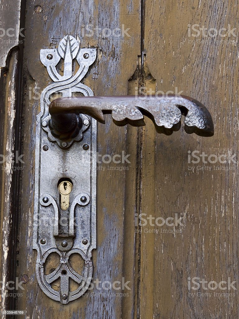 Mango de puerta foto de stock libre de derechos