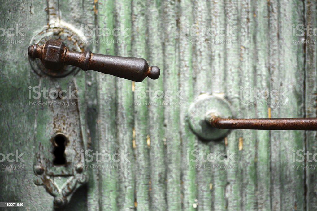 Door handle royalty-free stock photo