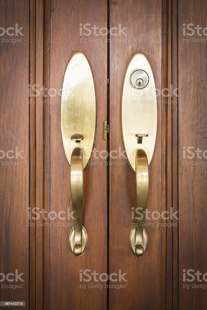 door handles with key stock photo