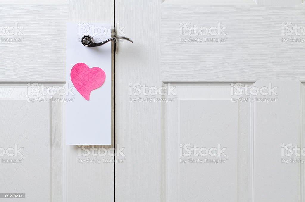 Door Hanger with Heart royalty-free stock photo