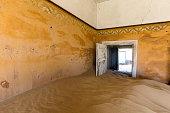 Door held open by sand