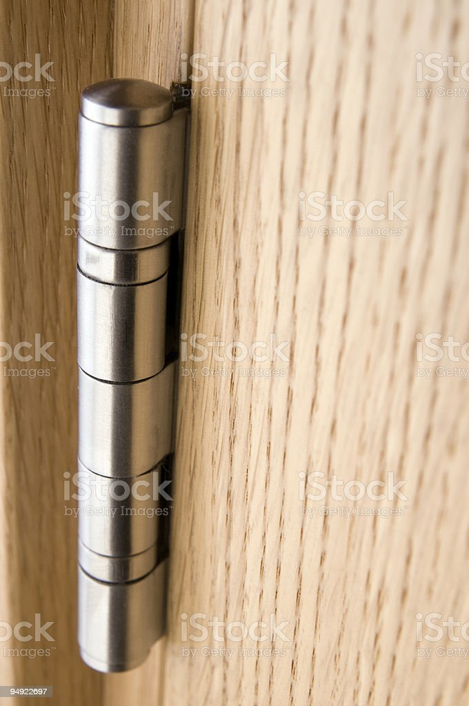 Door hinge stock photo