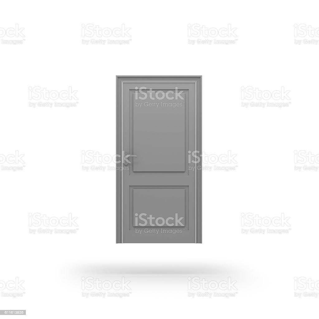 Door icon. 3D rendering. stock photo