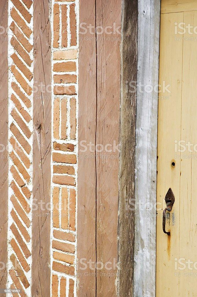 Door in Louisbourg stock photo