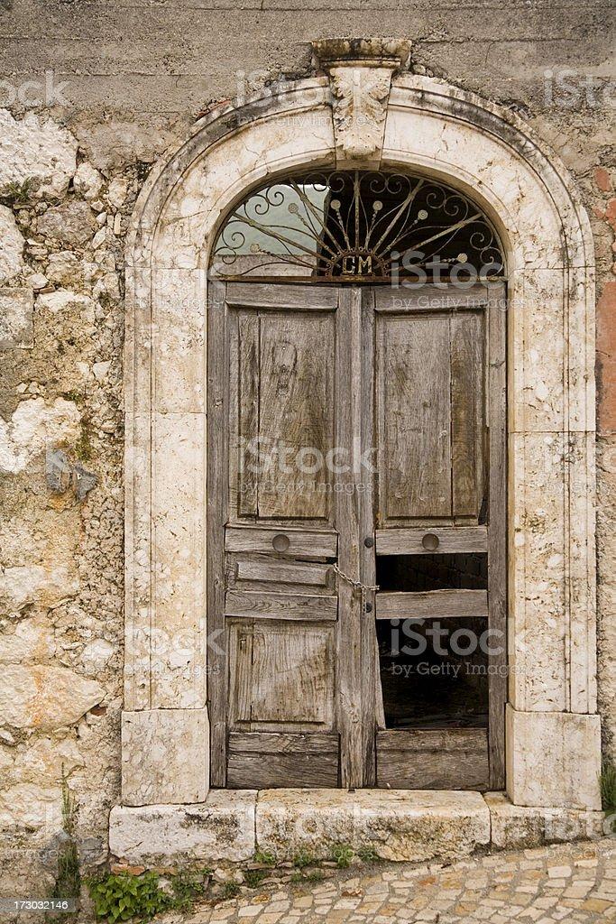 Door in Picinisco, Italy. royalty-free stock photo