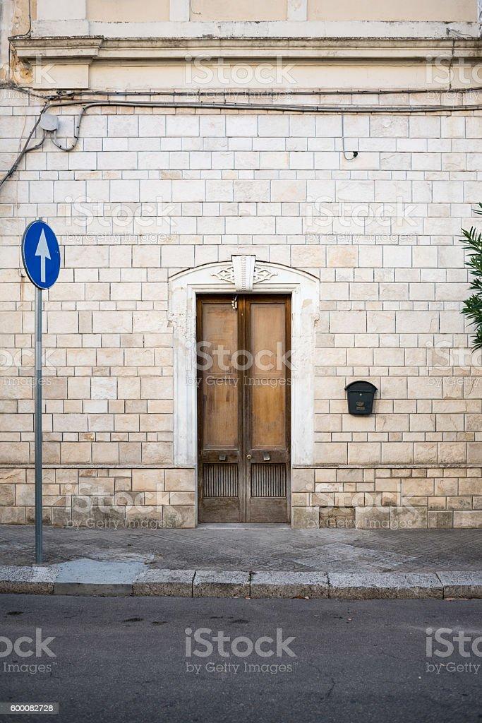 Door in Puglia, Italy stock photo