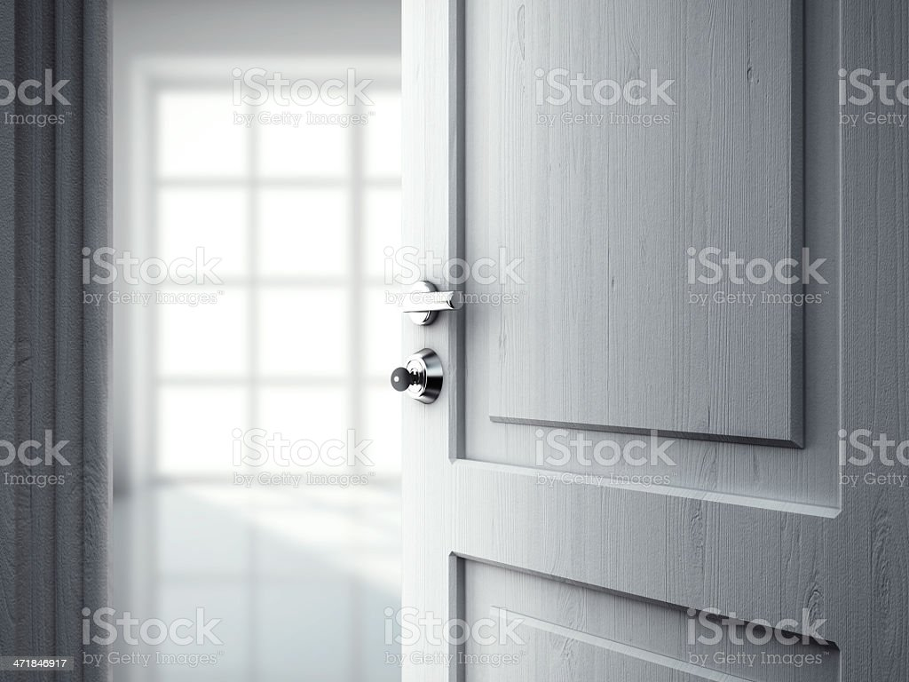 door in room royalty-free stock photo