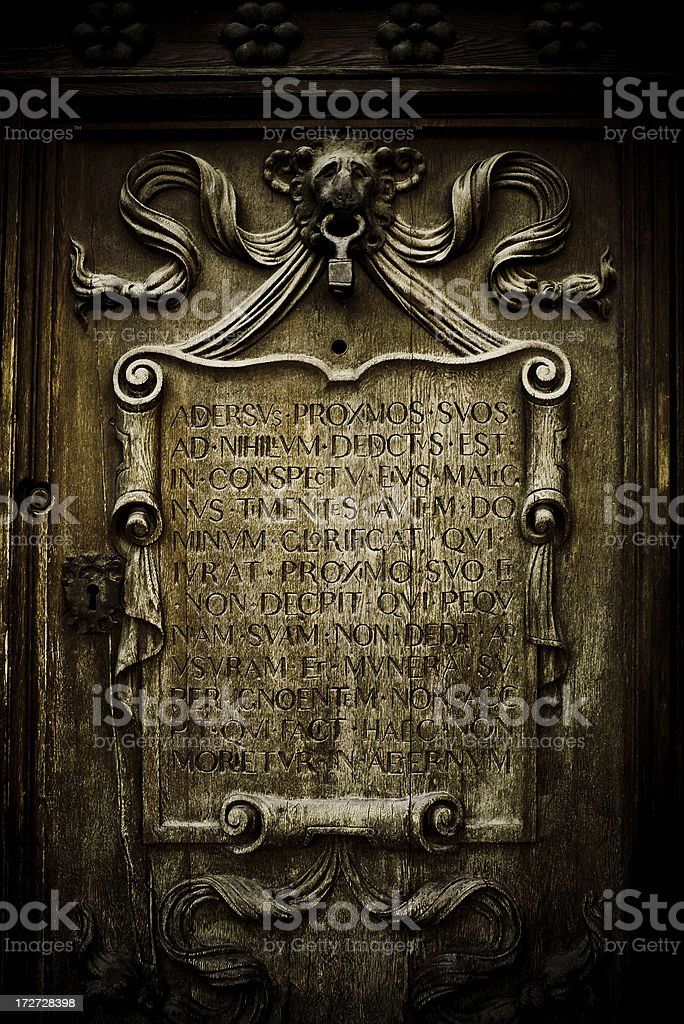 door in sevilla royalty-free stock photo