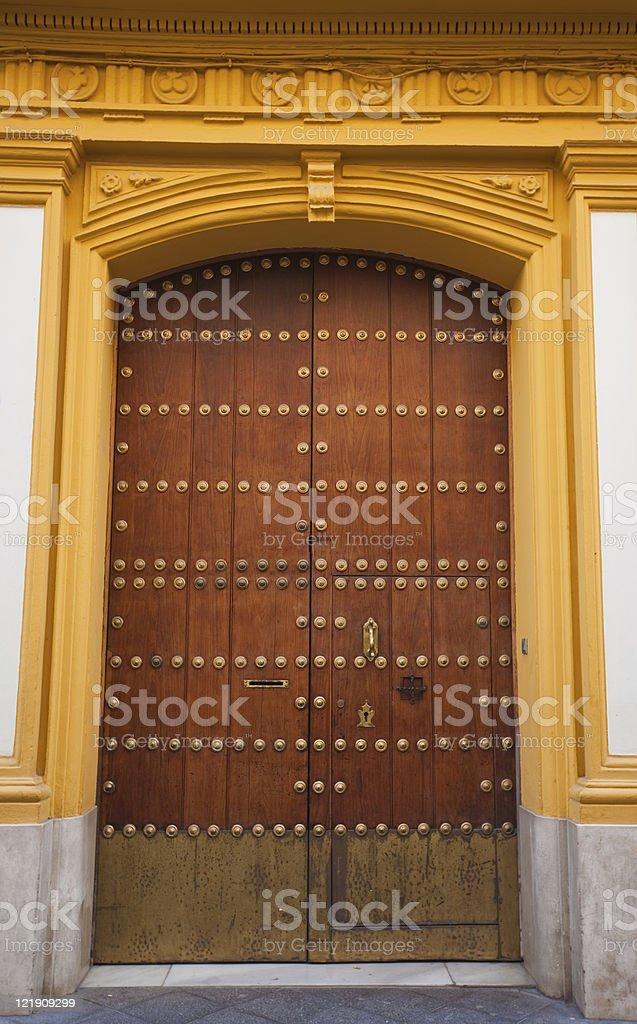 door in seville royalty-free stock photo