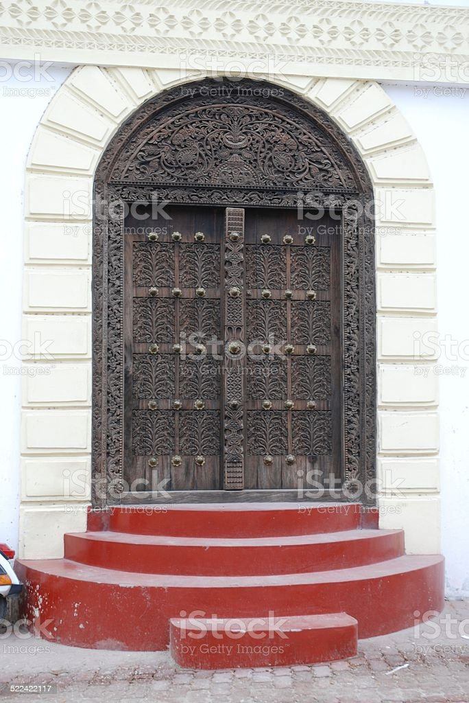 Door in Stone Town royalty-free stock photo