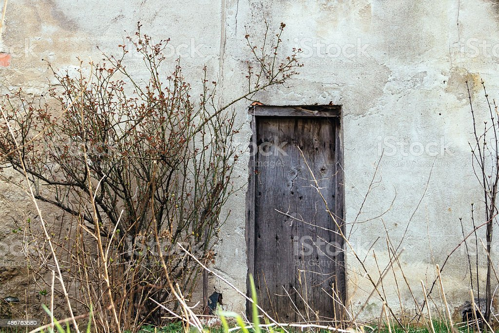 Door in the countryside stock photo