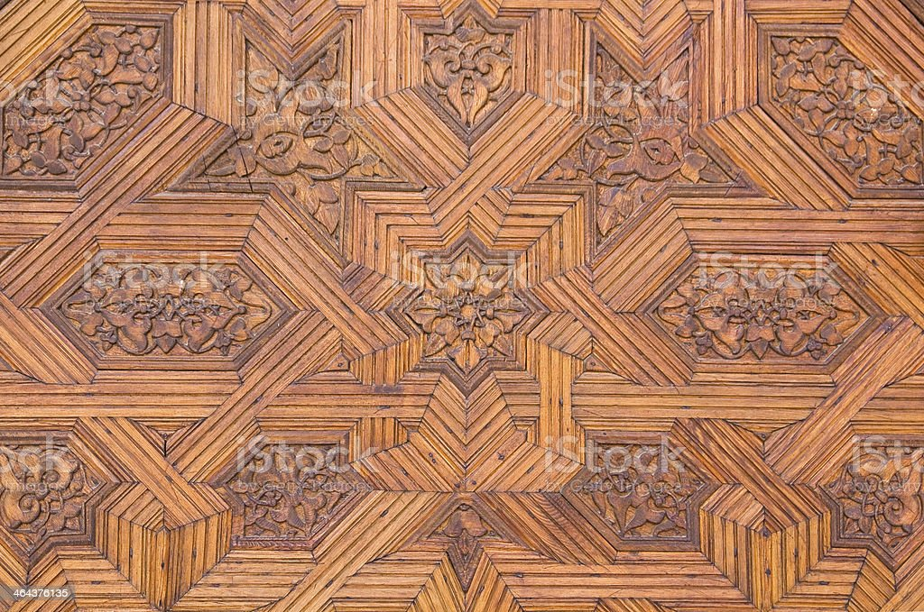 door in the Nazaries palaces royalty-free stock photo