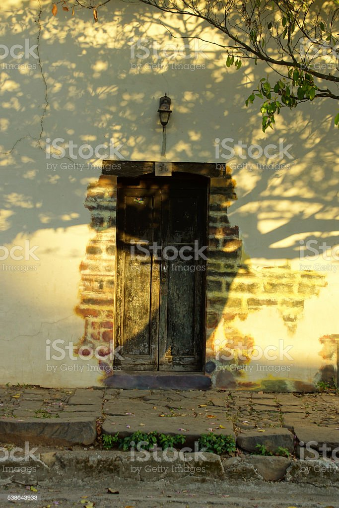 Door in the streets of Suchitoto - El Salvador stock photo