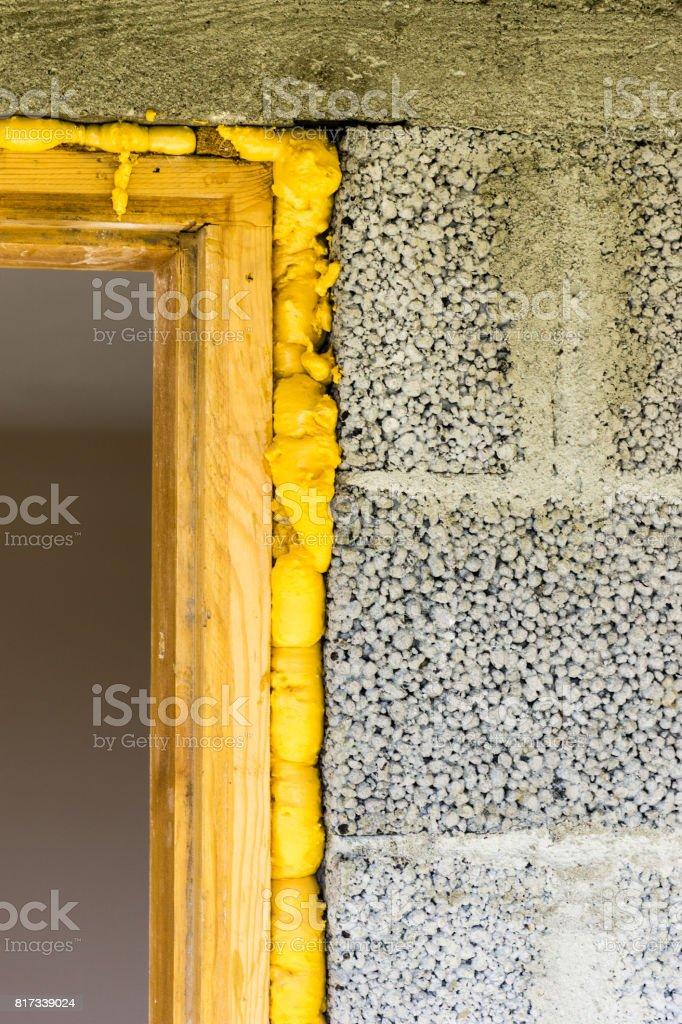 door installed stock photo