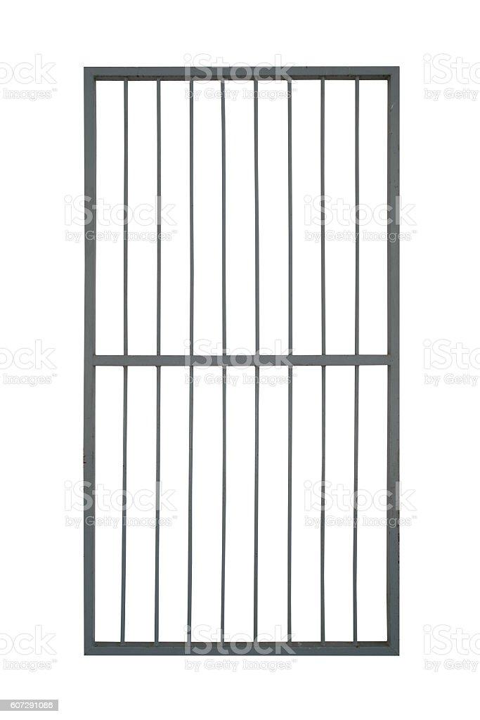 door iron cage isolate on white background stock photo