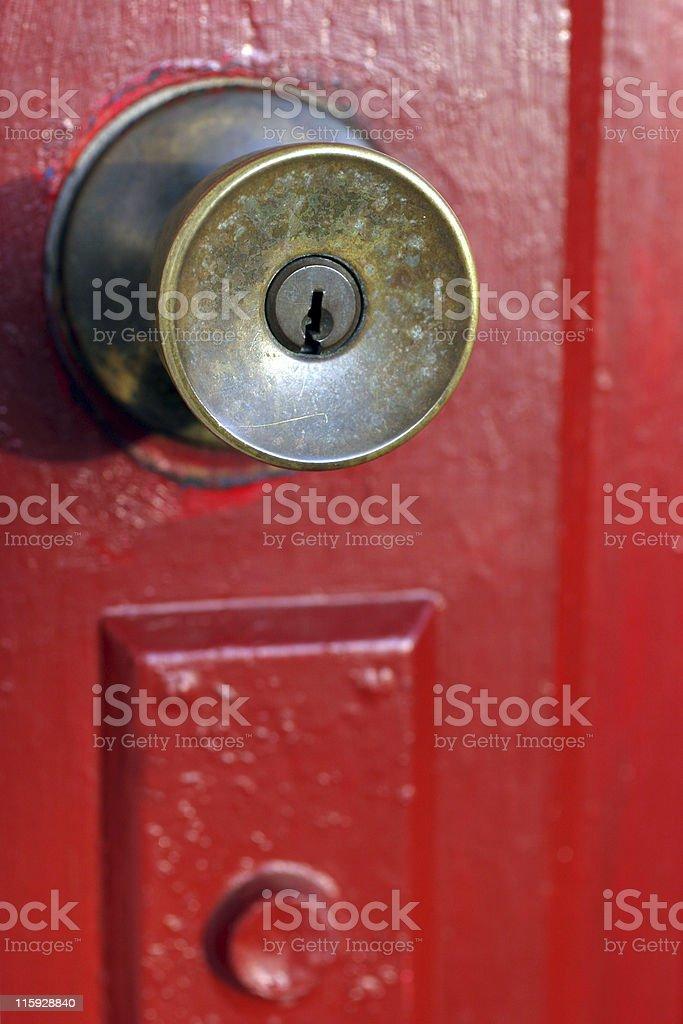 Door Knob Close-Up royalty-free stock photo