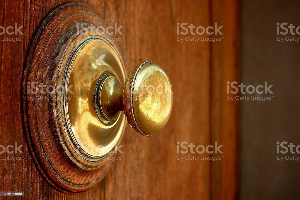 Door knob from the side stock photo