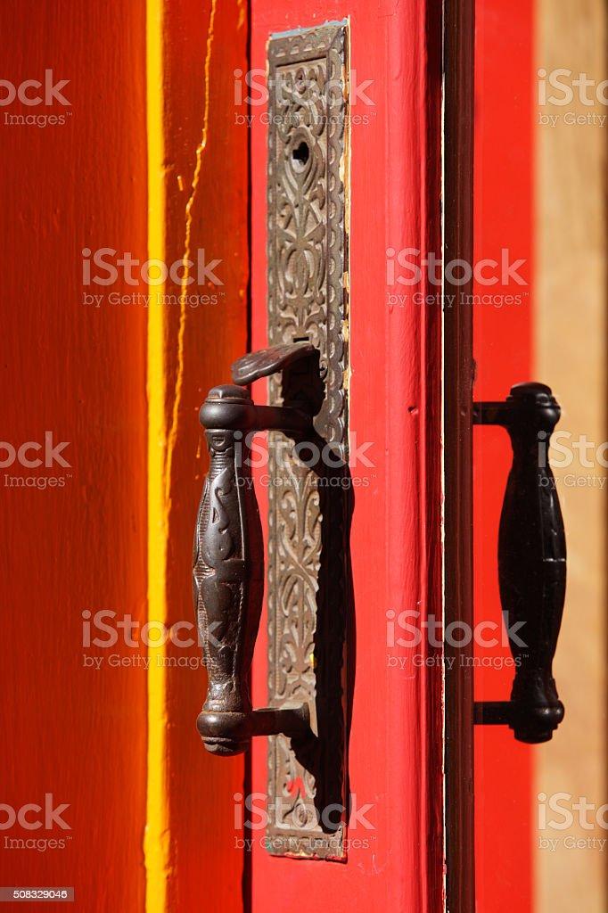 Door Knob Handle Doorframe Entrance stock photo