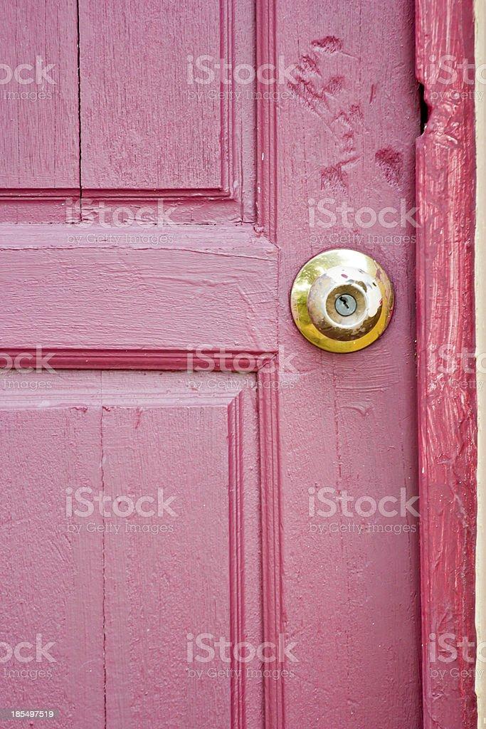 Door knob on red royalty-free stock photo